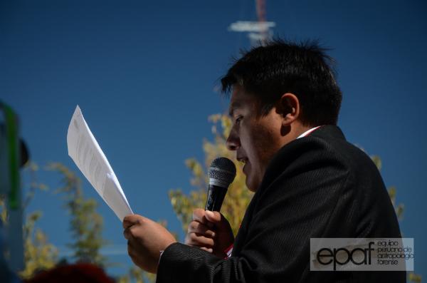 Alcalde de la comunidad,  Roly Cárdenas Pomahuallca.
